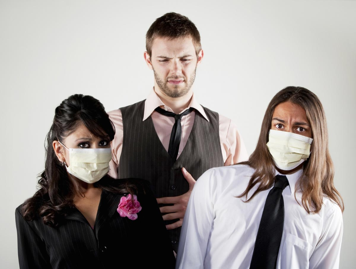 Friends-Coworkers-Sick-Face-Mask-Contagious-Pandemic